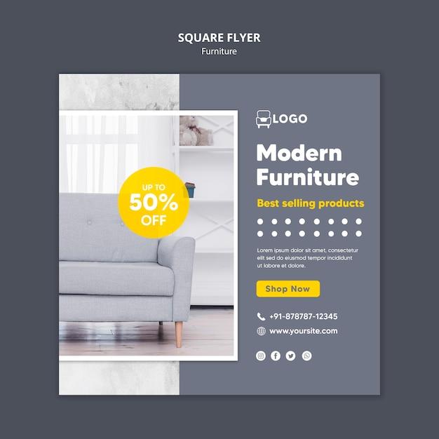 Móveis modernos em formato quadrado Psd grátis