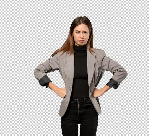Mulher de negócios com raiva Psd Premium