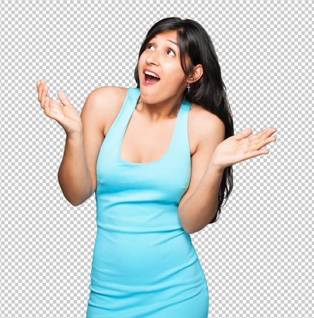 Mulher latina surpresa Psd Premium