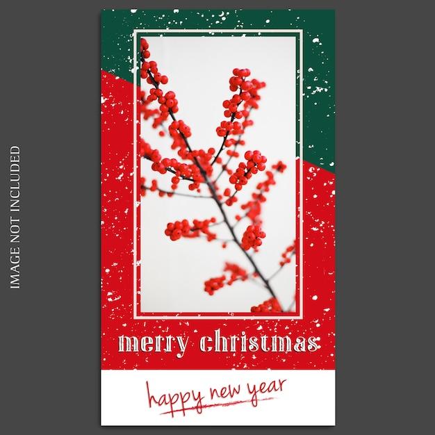 Natal e feliz ano novo 2019 foto mockup e instagram história modelo Psd Premium