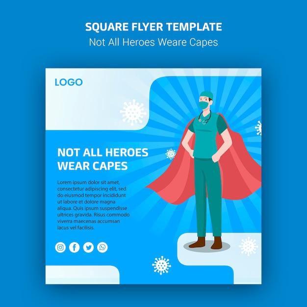 Nem todos os heróis tecem o conceito de flyer de capas Psd grátis