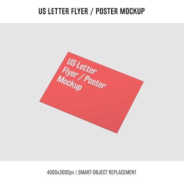 Nós carta flyer ou cartaz mockup conceito Psd grátis