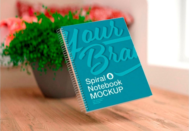 Notebook com design de modelo de anel Psd Premium