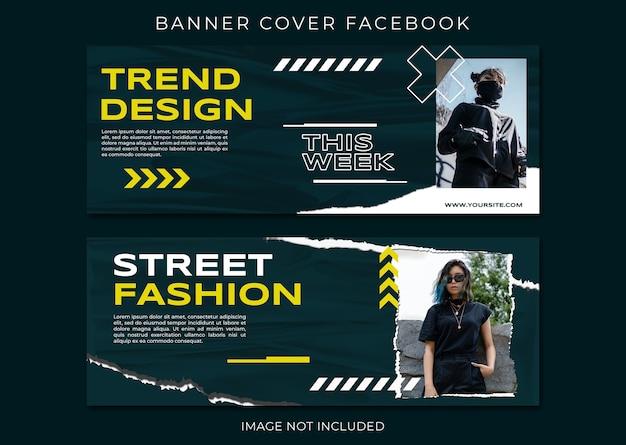 Novo conjunto de modelos de capa de venda de moda de produto no facebook Psd Premium