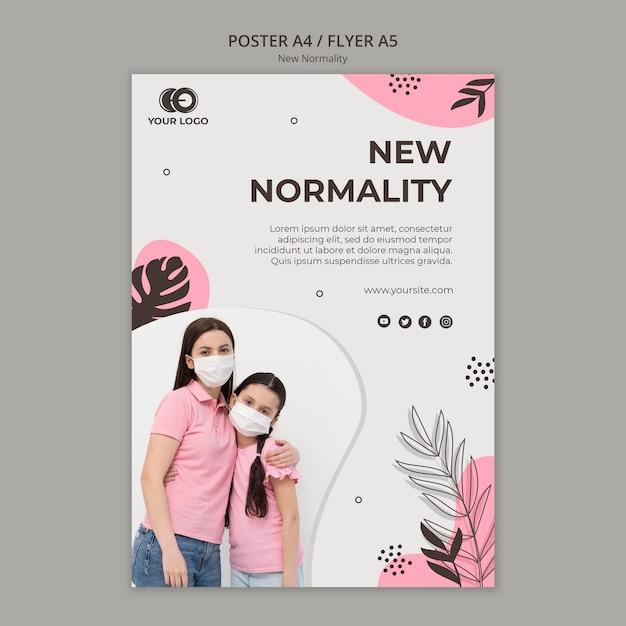 Novo modelo de cartaz de normalidade Psd grátis