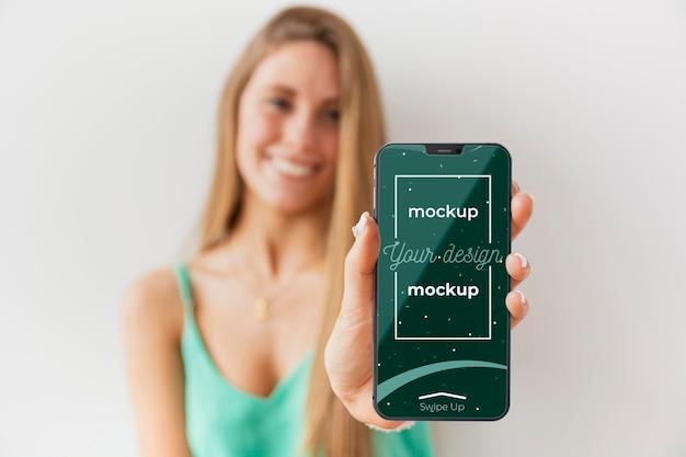 Novo modelo de conceito de smartphone Psd Premium