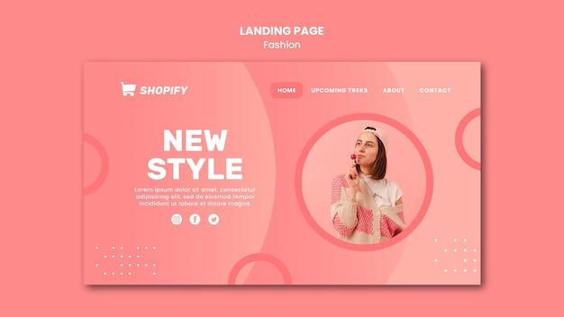 Novo modelo de página de destino de estilo Psd grátis