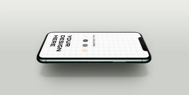 Novo modelo flutuante de smartphone Psd grátis