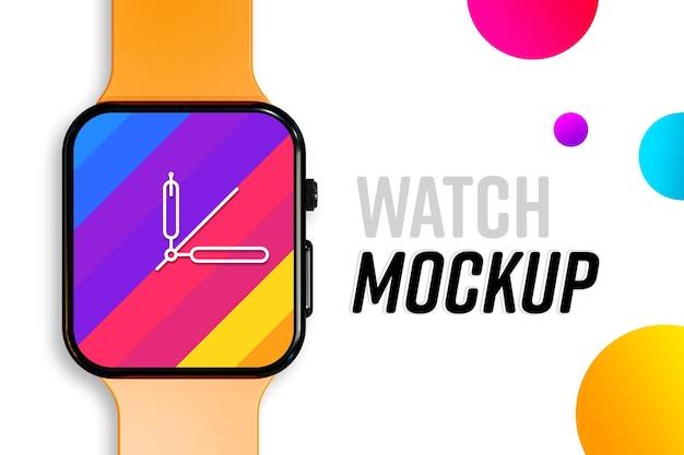 Novo modelo moderno de tela de relógio inteligente Psd Premium