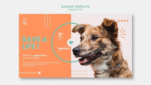 O modelo de banner adota o tema animal de estimação Psd grátis