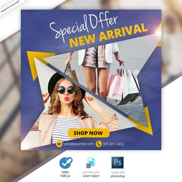 Oferta especial venda web social media banner Psd Premium
