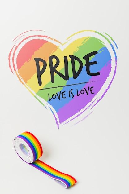 Orgulho gay maquete fita washi Psd grátis