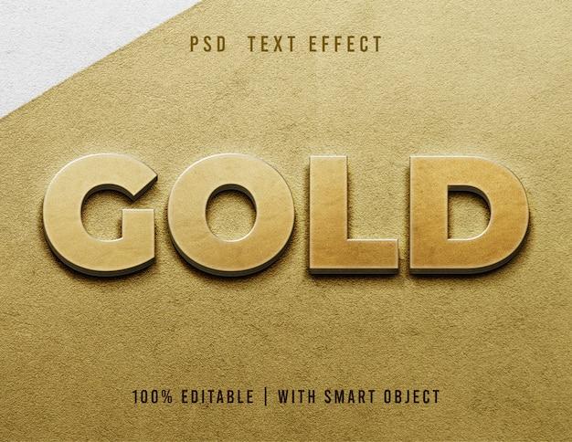 Ouro editável do efeito de texto 3d Psd Premium