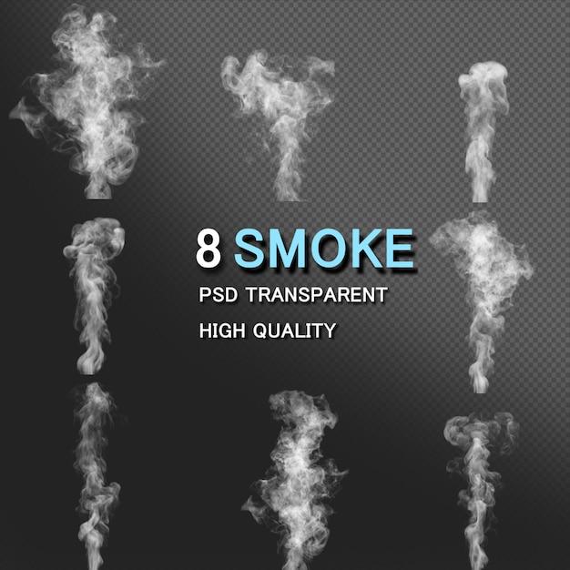 Pacote de estilos de fumaça Psd Premium