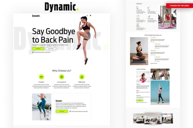 Página da web dynamic fitness Psd Premium