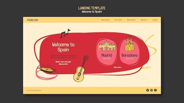 Página de destino da cultura espanhola Psd grátis