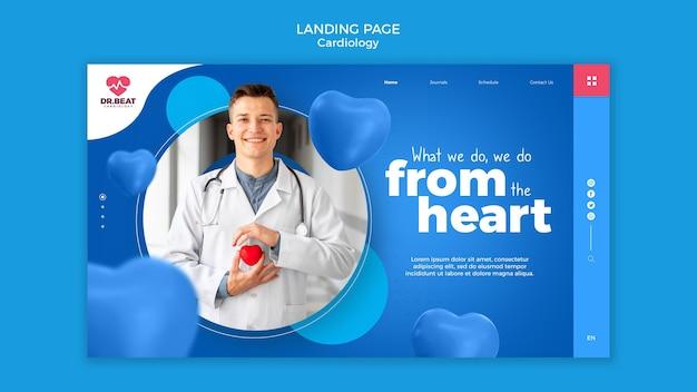Página de destino de coração em coração Psd grátis