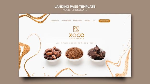 Página de destino deliciosa de chocolate Psd grátis