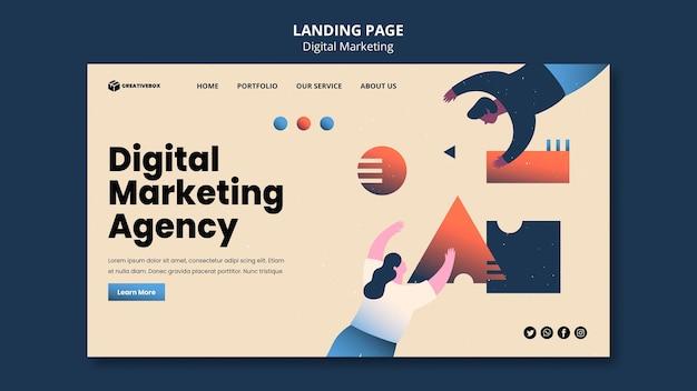 Página de destino do marketing digital Psd Premium