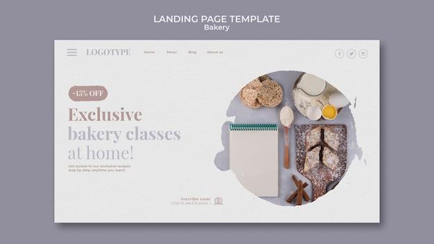Página de destino do modelo de anúncio de padaria Psd grátis