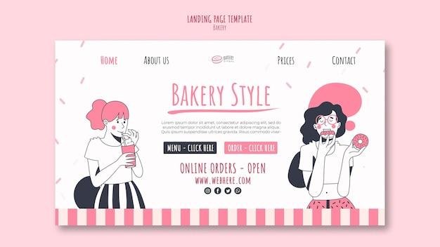 Página de destino do modelo de anúncio de padaria Psd Premium