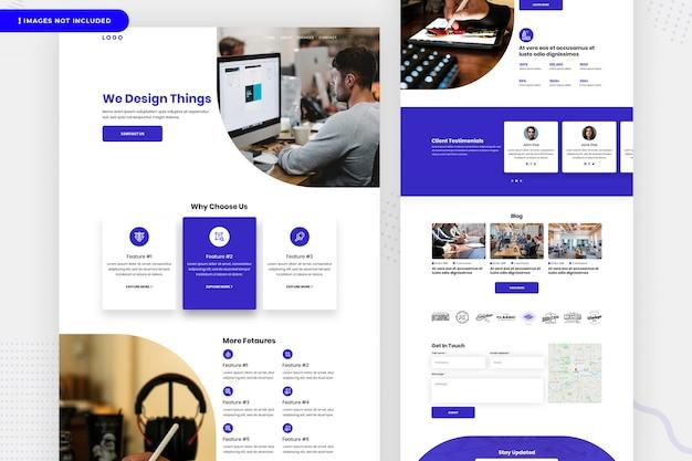 Página do site da empresa de design Psd Premium