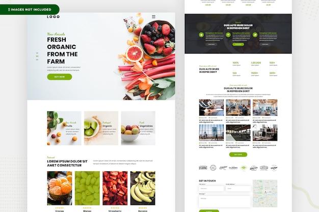 Página do site de legumes frescos Psd Premium