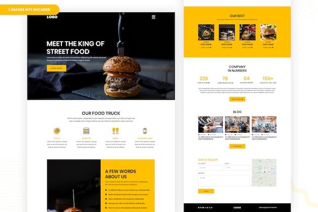Página do site street food Psd Premium