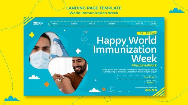 Página inicial da semana mundial de imunização Psd grátis