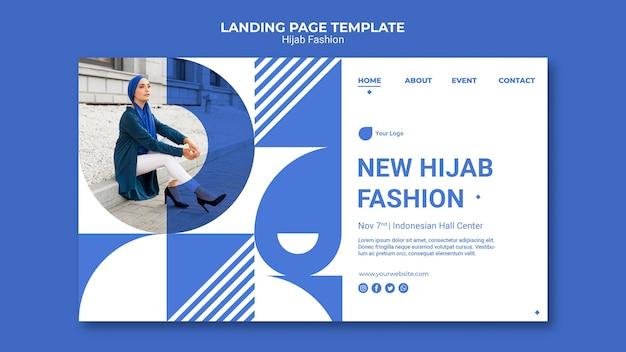 Página inicial de moda hijab Psd grátis