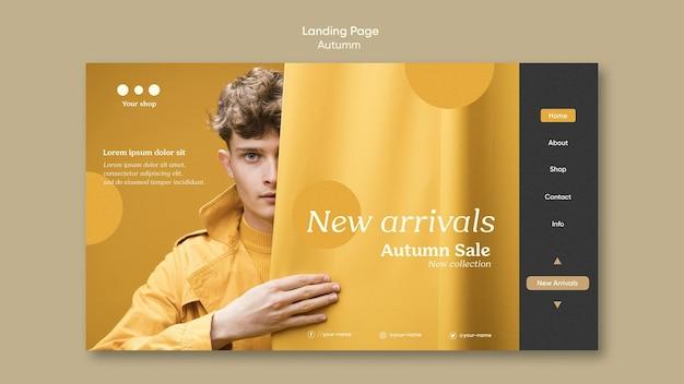 Página inicial de novidades da promoção de outono Psd grátis