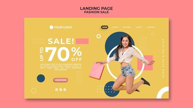 Página inicial de vendas de moda Psd grátis