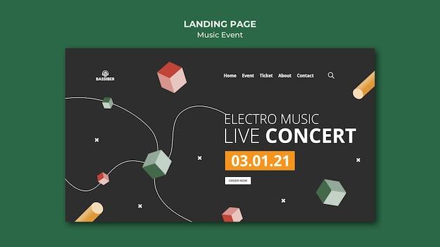 Página inicial do evento musical Psd Premium