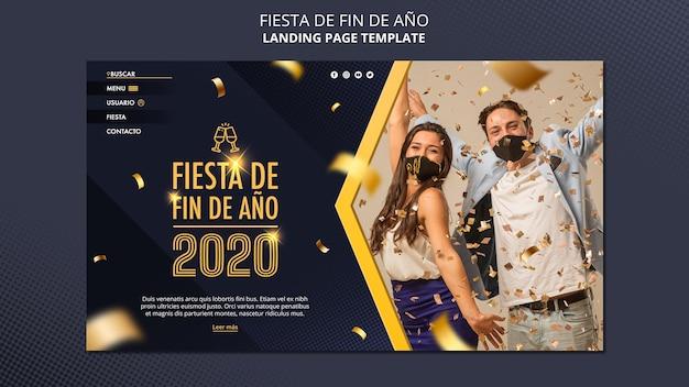 Página inicial do fiesta de fin de ano 2020 Psd grátis