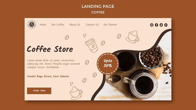 Página inicial do modelo de cafeteria Psd grátis