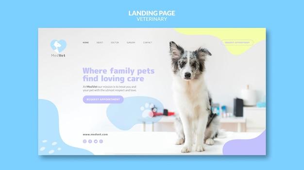 Página inicial do modelo de clínica veterinária Psd Premium