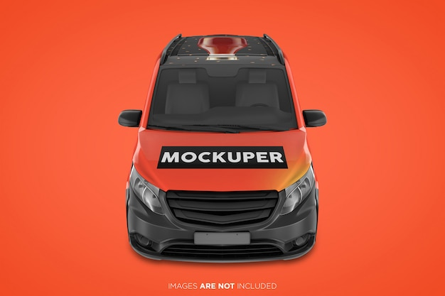 Painel real van psd mockup front view Psd Premium