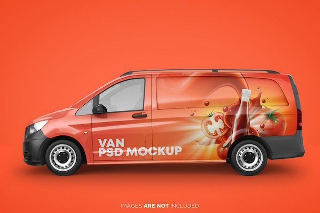 Painel real van psd mockup side view Psd Premium