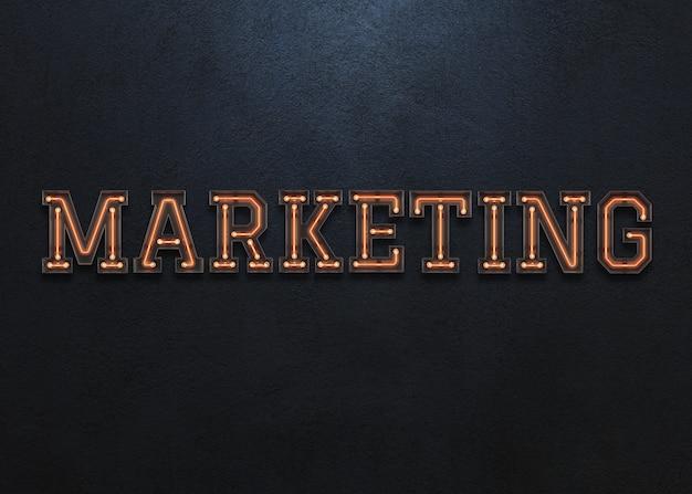 Palavra de marketing Psd Premium