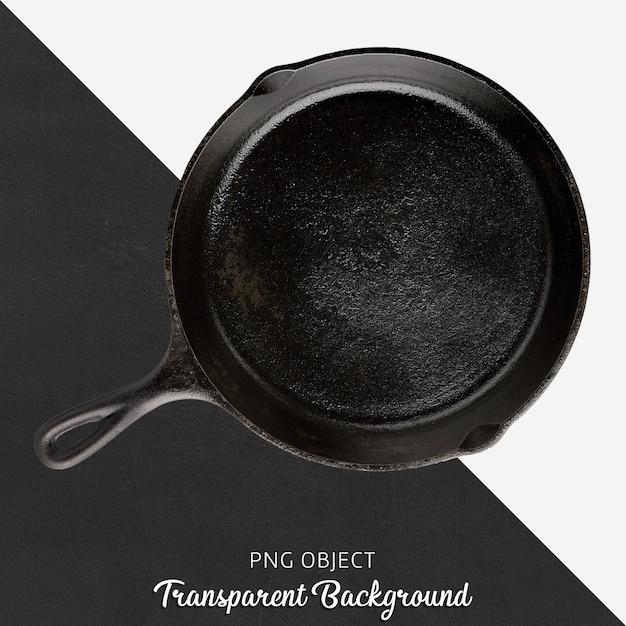 Panela redonda preta em fundo transparente Psd Premium
