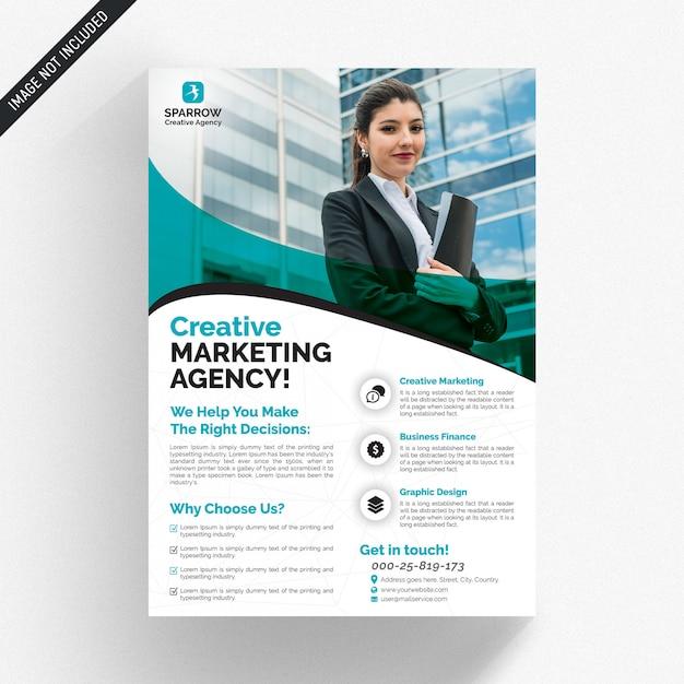 Panfleto comercial branco Psd Premium