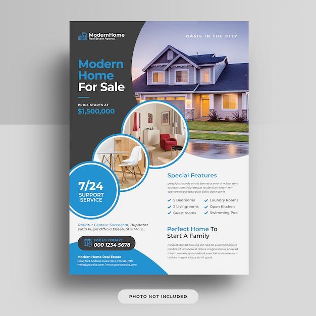 Panfleto de capa de negócios imobiliários a4 Psd Premium