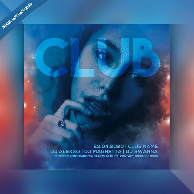 Panfleto de festa à noite clube Psd Premium