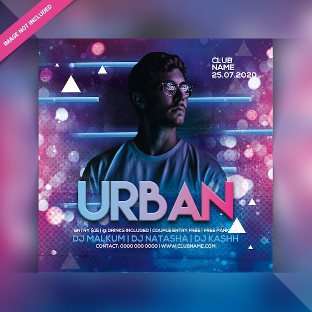 Panfleto de festa à noite urbana Psd Premium