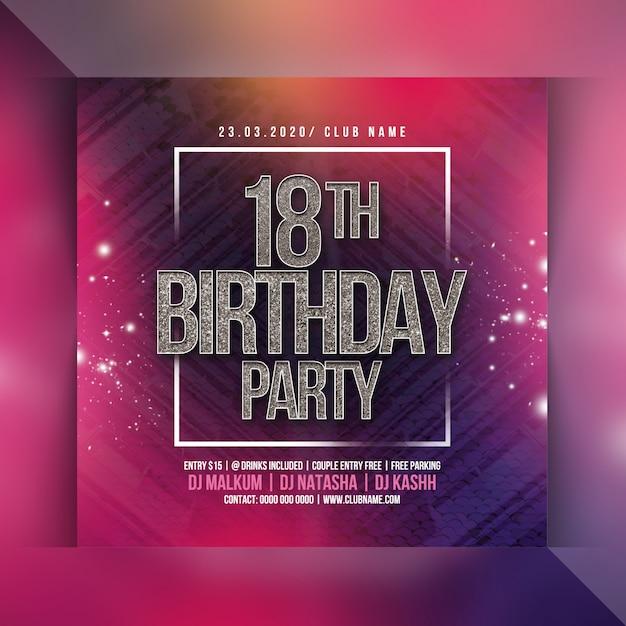 Panfleto de festa de 18 anos Psd Premium