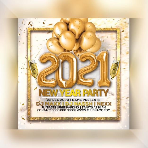 Panfleto de festa de ano novo Psd Premium