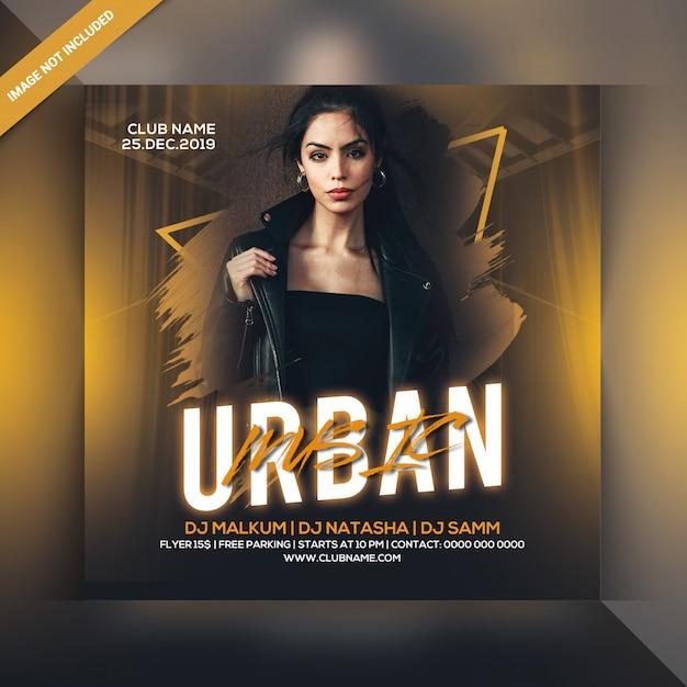 Panfleto de festa de música urbana Psd Premium