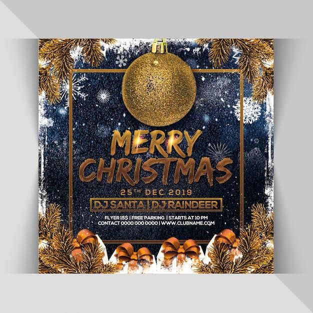 Panfleto de festa de natal feliz Psd Premium