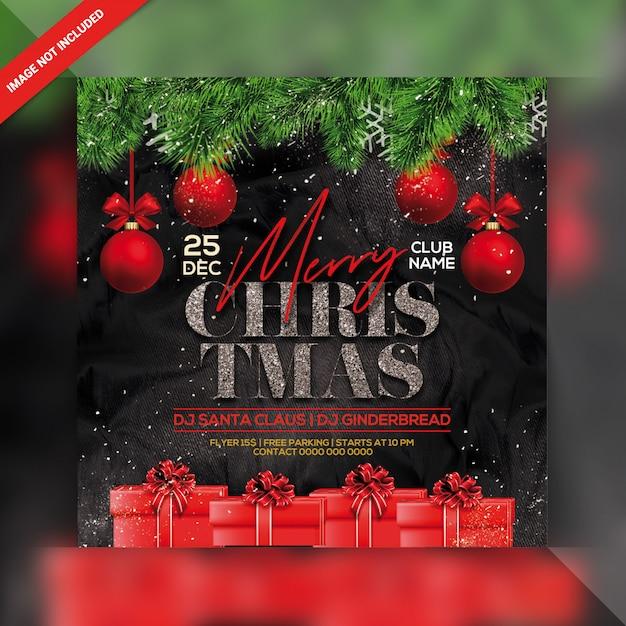 Panfleto de festa de natal Psd Premium