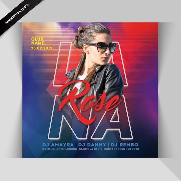 Panfleto de festa de noite de dj Psd Premium